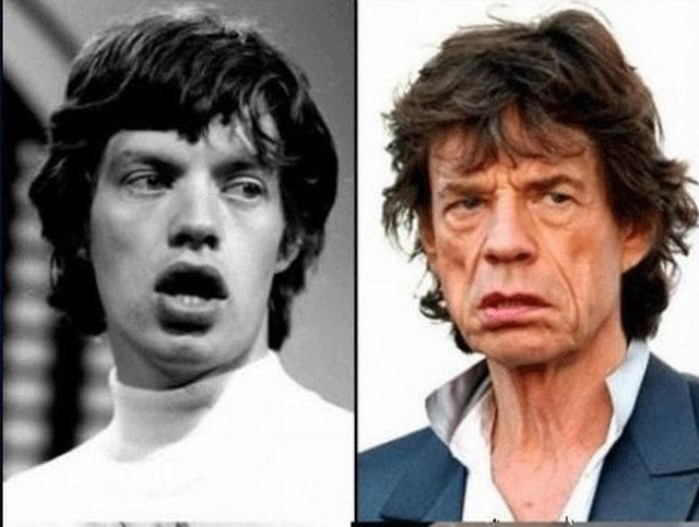 mike-jagger-rock stars then and now
