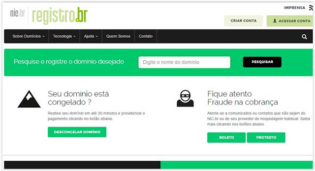 registro br Registrar Dominio