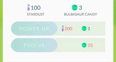Candies e Stardust pokemon go