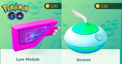 Incenso e Lure Module pokemon go
