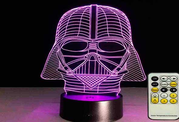 Luz noturna Darth Vader