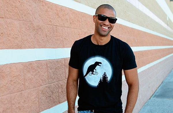 t-shirt T-REX MOON